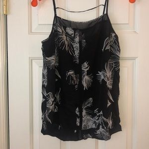 See through black tank top blouse from Nordstrom